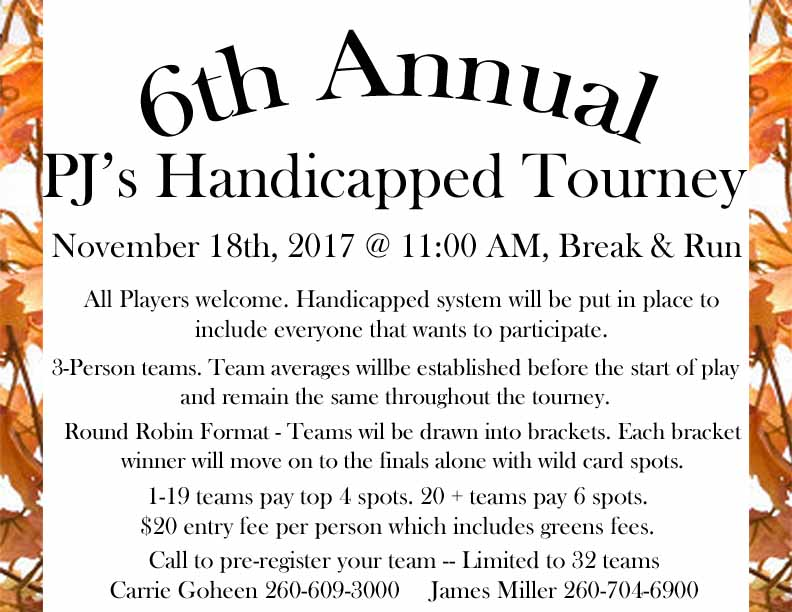 2017 Fall Handicapped Tourney Color
